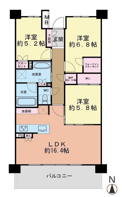 築浅中古マンション プラウド桜台(野村不動産分譲)平成29年2月新築